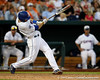 Florida senior Bryson Smith hits a single during the Gators' 8-4 win against the Texas Longhorns in the College World Series on Saturday, June 18, 2011 at TD Ameritrade Park in Omaha, Neb. / Gator Country photo by Tim Casey