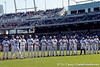 Florida senior Josh Adams in introduced during the Gators' game against the Texas Longhorns in the College World Series on Saturday, June 18, 2011 at TD Ameritrade Park in Omaha, Neb. / Gator Country photo by Tim Casey
