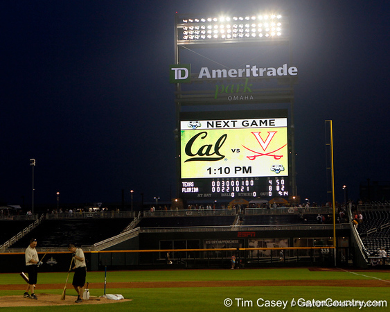 after the Gators' 8-4 win against the Texas Longhorns in the College World Series on Saturday, June 18, 2011 at TD Ameritrade Park in Omaha, Neb. / Gator Country photo by Tim Casey