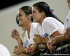 Florida softball players Ensley Gammel and Cheyenne Coyle cheer during the Gators' 7-0 win against the Alabama Crimson Tide on Friday, April 22, 2011 at McKethan Stadium in Gainesville, Fla. / Gator Country photo by Tim Casey