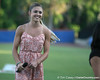 Florida track and field student athlete Daisy Glasser smiles after sining the national anthem before the Gators' 7-0 win against the Alabama Crimson Tide on Friday, April 22, 2011 at McKethan Stadium in Gainesville, Fla. / Gator Country photo by Tim Casey