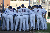 Florida players huddle before the Gators' 7-0 win against the Alabama Crimson Tide on Friday, April 22, 2011 at McKethan Stadium in Gainesville, Fla. / Gator Country photo by Tim Casey