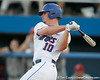 Florida sophomore Austin Maddox follows through on a swing during the Gators' 7-0 win against the Alabama Crimson Tide on Friday, April 22, 2011 at McKethan Stadium in Gainesville, Fla. / Gator Country photo by Tim Casey