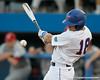 Florida junior outfielder Tyler Thompson fouls off a pitch during the Gators' 7-0 win against the Alabama Crimson Tide on Friday, April 22, 2011 at McKethan Stadium in Gainesville, Fla. / Gator Country photo by Tim Casey
