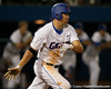 Florida sophomore Brian Johnson follows through on a hit during the Gators' 7-0 win against the Alabama Crimson Tide on Friday, April 22, 2011 at McKethan Stadium in Gainesville, Fla. / Gator Country photo by Tim Casey