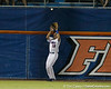Florida junior outfielder Tyler Thompson makes a catch at the warning track during the Gators' 7-0 win against the Alabama Crimson Tide on Friday, April 22, 2011 at McKethan Stadium in Gainesville, Fla. / Gator Country photo by Tim Casey