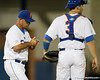 Florida baseball head coach Kevin O'Sullivan walks to the mound during the Gators' 7-0 win against the Alabama Crimson Tide on Friday, April 22, 2011 at McKethan Stadium in Gainesville, Fla. / Gator Country photo by Tim Casey