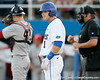 Florida senior Bryson Smith looks to the base coach during the Gators' 7-0 win against the Alabama Crimson Tide on Friday, April 22, 2011 at McKethan Stadium in Gainesville, Fla. / Gator Country photo by Tim Casey
