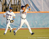 Florida junior outfielder Tyler Thompson catches a fly ball during the Gators' 7-0 win against the Alabama Crimson Tide on Friday, April 22, 2011 at McKethan Stadium in Gainesville, Fla. / Gator Country photo by Tim Casey