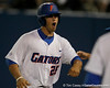 Florida junior Preston Tucker celebrates during the Gators' 7-0 win against the Alabama Crimson Tide on Friday, April 22, 2011 at McKethan Stadium in Gainesville, Fla. / Gator Country photo by Tim Casey
