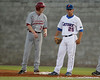 Florida junior Preston Tucker holds a runner at first base during the Gators' 7-0 win against the Alabama Crimson Tide on Friday, April 22, 2011 at McKethan Stadium in Gainesville, Fla. / Gator Country photo by Tim Casey