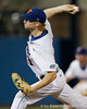 Florida sophomore pitcher Hudson Randall delivers a pitch during the Gators' 7-0 win against the Alabama Crimson Tide on Friday, April 22, 2011 at McKethan Stadium in Gainesville, Fla. / Gator Country photo by Tim Casey