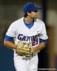 Florida senior pitcher Matt Campbell watches a fly out to the outfield during the Gators' 7-0 win against the Alabama Crimson Tide on Friday, April 22, 2011 at McKethan Stadium in Gainesville, Fla. / Gator Country photo by Tim Casey
