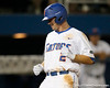 Florida senior Josh Adams steps on home plate after hitting a three-run homer during the Gators' 7-0 win against the Alabama Crimson Tide on Friday, April 22, 2011 at McKethan Stadium in Gainesville, Fla. / Gator Country photo by Tim Casey