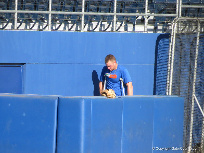 at the Florida Gators fall baseball scrimmage on Nov. 9, 2012, at McKethan Stadium in Gainesville, Fla.