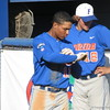 Richie Martin, left, and Tyler Thompson at the Florida Gators fall baseball scrimmage on Nov. 9, 2012, at McKethan Stadium in Gainesville, Fla.