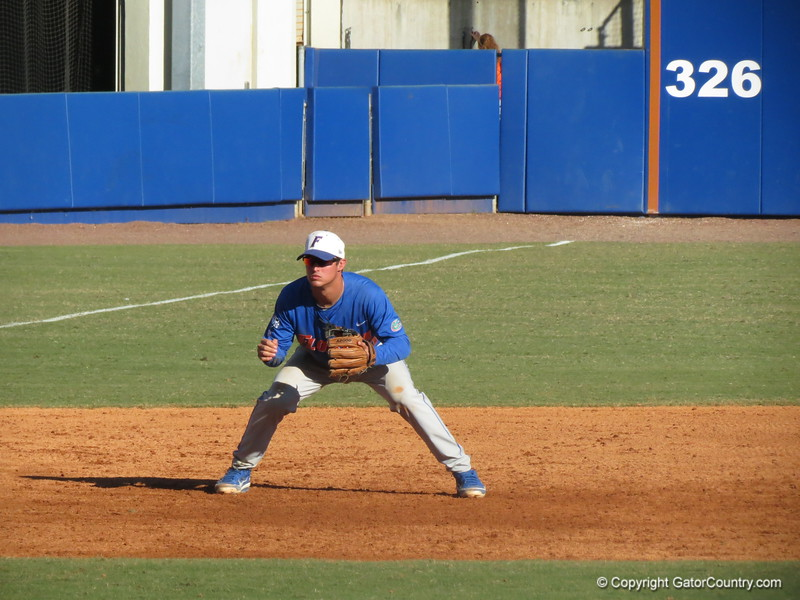 Cody Dent at the Florida Gators fall baseball scrimmage on Nov. 9, 2012, at McKethan Stadium in Gainesville, Fla.