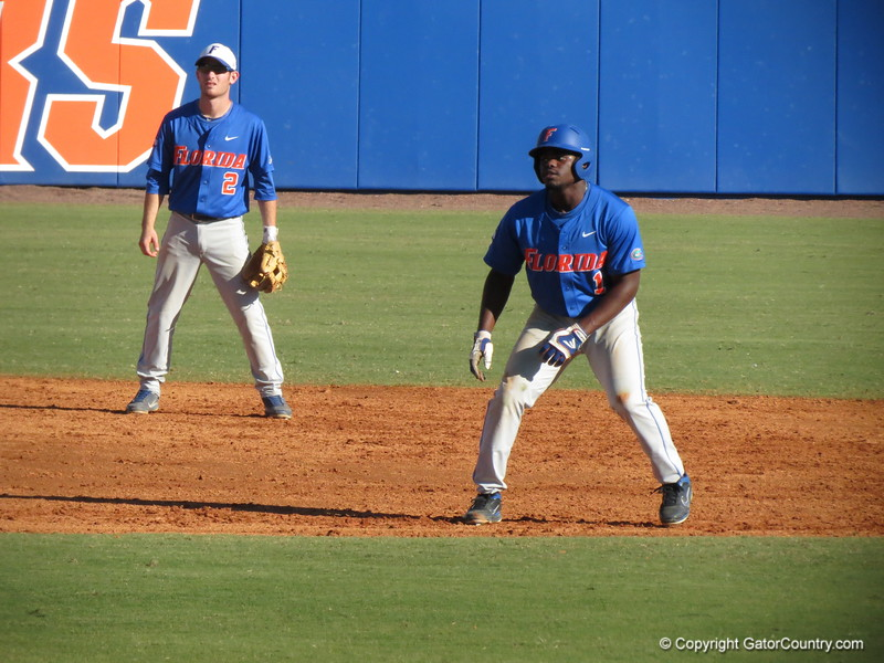 Josh Tobias at the Florida Gators fall baseball scrimmage on Nov. 9, 2012, at McKethan Stadium in Gainesville, Fla.