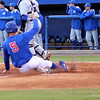 Sophomore Zack Powers sliding home during the Gators' 4-2 win against Duke on Saturday, February 16, 2013 at McKethan Stadium in Gainesville, Fla. / Gator Country photo by Danielle Bloch