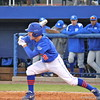Sophomore Casey Turgeon about to drop the bat and run to first base during the Gators' 4-2 win against Duke on Saturday, February 16, 2013 at McKethan Stadium in Gainesville, Fla. / Gator Country photo by Danielle Bloch