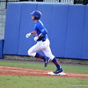 Sophomore Taylor Gushue landing on first base during the Gators' 4-2 win against Duke on Saturday, February 16, 2013 at McKethan Stadium in Gainesville, Fla. / Gator Country photo by Danielle Bloch