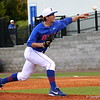 Freshman Parker Danciu pitching the ball during the Gators' 4-2 win against Duke on Saturday, February 16, 2013 at McKethan Stadium in Gainesville, Fla. / Gator Country photo by Danielle Bloch