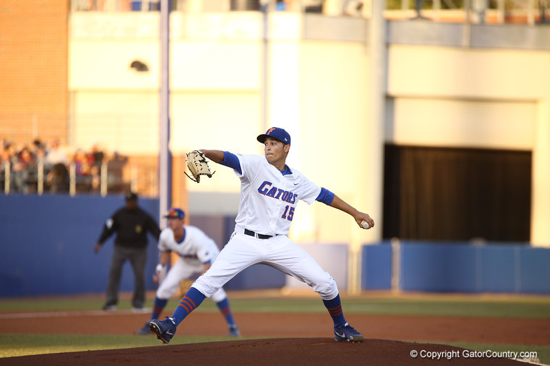 Dany Young during Florida's 1-4 loss to Florida State on March 12, 2013 in Gainesville, Florida. Photos by Curtis Bryant for Gatorcountry.com