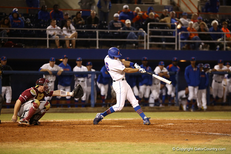 Jordan Shafer during Florida's 1-4 loss to Florida State on March 12, 2013 in Gainesville, Florida. Photos by Curtis Bryant for Gatorcountry.com