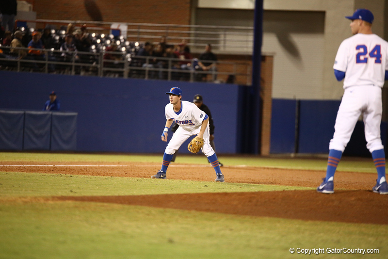 Zack Powers during Florida's 1-4 loss to Florida State on March 12, 2013 in Gainesville, Florida. Photos by Curtis Bryant for Gatorcountry.com