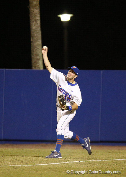 Justin Shafer during Florida's 1-4 loss to Florida State on March 12, 2013 in Gainesville, Florida. Photos by Curtis Bryant for Gatorcountry.com
