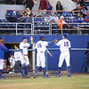 Danny Young returns to dugout during Florida's 1-4 loss to Florida State on March 12, 2013 in Gainesville, Florida. Photos by Curtis Bryant for Gatorcountry.com