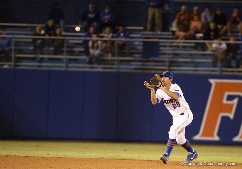 Cody Dent during Florida's 1-4 loss to Florida State on March 12, 2013 in Gainesville, Florida. Photos by Curtis Bryant for Gatorcountry.com