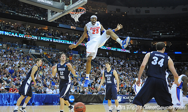 Photo Gallery: UF men's basketball vs. BYU, NCAA Sweet 16, 3/24/11
