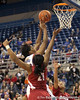 Florida sophomore forward Jennifer George shoots a layup during the first half of the Gators' 70-64 win against the Alabama Crimson Tide on Thursday, January 27, 2011 at the Stephen C. O'Connell Center in Gainesville, Fla. / Gator Country photo by Tim Casey