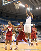 Florida sophomore forward Jennifer George shoots a layup during the second half of the Gators' 70-64 win against the Alabama Crimson Tide on Thursday, January 27, 2011 at the Stephen C. O'Connell Center in Gainesville, Fla. / Gator Country photo by Tim Casey
