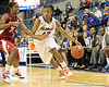Florida junior guard Deana Allen dribbles to the basket during the second half of the Gators' 70-64 win against the Alabama Crimson Tide on Thursday, January 27, 2011 at the Stephen C. O'Connell Center in Gainesville, Fla. / Gator Country photo by Tim Casey
