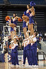 Florida cheerleaders perform during the first half of the Gators' 70-64 win against the Alabama Crimson Tide on Thursday, January 27, 2011 at the Stephen C. O'Connell Center in Gainesville, Fla. / Gator Country photo by Tim Casey