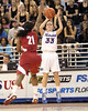 Florida redshirt-junior Jordan Jones shoots for three during the first half of the Gators' 70-64 win against the Alabama Crimson Tide on Thursday, January 27, 2011 at the Stephen C. O'Connell Center in Gainesville, Fla. / Gator Country photo by Tim Casey