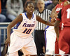 Florida freshman guard Jaterra Bonds defends the point during the first half of the Gators' 70-64 win against the Alabama Crimson Tide on Thursday, January 27, 2011 at the Stephen C. O'Connell Center in Gainesville, Fla. / Gator Country photo by Tim Casey