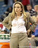 Florida head coach Amanda Butler watches from the sideline during the second half of the Gators' 70-64 win against the Alabama Crimson Tide on Thursday, January 27, 2011 at the Stephen C. O'Connell Center in Gainesville, Fla. / Gator Country photo by Tim Casey