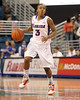 Florida junior guard Lanita Bartley dribbles past midcourt during the first half of the Gators' 70-64 win against the Alabama Crimson Tide on Thursday, January 27, 2011 at the Stephen C. O'Connell Center in Gainesville, Fla. / Gator Country photo by Tim Casey