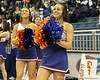 Florida cheerleaders perform during halftime of the Gators' 70-64 win against the Alabama Crimson Tide on Thursday, January 27, 2011 at the Stephen C. O'Connell Center in Gainesville, Fla. / Gator Country photo by Tim Casey