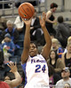 Florida freshman forward Deaundra Young shoots a jump shot during the first half of the Gators' 70-64 win against the Alabama Crimson Tide on Thursday, January 27, 2011 at the Stephen C. O'Connell Center in Gainesville, Fla. / Gator Country photo by Tim Casey