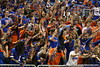 Fans cheer after a 3-point shot during the Gators' 114-57 win over the Catholic Cardinals on Thursday, November 3rd, 2011 at the Steven C. O'Connell Center in Gainesville, Fla./Gator Country photo by Rob Foldy