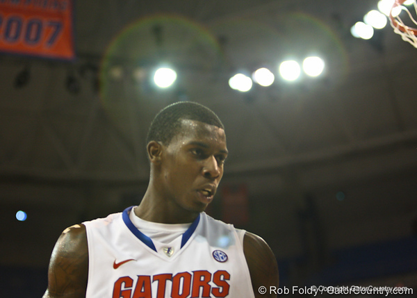 Florida sophomore guard/forward Casey Prather during the Gators' 114-57 win over the Catholic Cardinals on Thursday, November 3, 2011 at the Steven C. O'Connell Center in Gainesville, Fla./Gator Country photo by Rob Foldy
