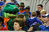 Florida mascot Albert poses for a photo during the Gators' 114-57 win over the Catholic Cardinals on Thursday, November 3rd, 2011 at the Steven C. O'Connell Center in Gainesville, Fla./Gator Country photo by Rob Foldy