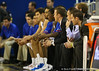 Florida head coach Billy Donovan during the Gators' 114-57 win over the Catholic Cardinals on Thursday, November 3rd, 2011 at the Steven C. O'Connell Center in Gainesville, Fla./Gator Country photo by Rob Foldy
