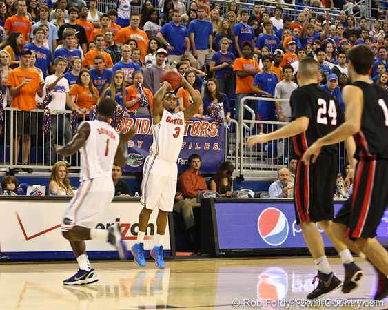 Florida redshirt junior guard Mike Rosario during the Gators' 114-57 win over the Catholic Cardinals on Thursday, November 3rd, 2011 at the Steven C. O'Connell Center in Gainesville, Fla./Gator Country photo by Rob Foldy