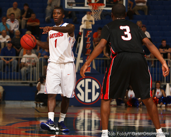 Florida junior guard Kenny Boynton during the Gators' 114-57 win over the Catholic Cardinals on Thursday, November 3, 2011 at the Steven C. O'Connell Center in Gainesville, Fla./Gator Country photo by Rob Foldy