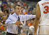 Florida head coach Billy Donovan during the Gators' 114-57 win over the Catholic Cardinals on Thursday, November 3, 2011 at the Steven C. O'Connell Center in Gainesville, Fla./Gator Country photo by Rob Foldy